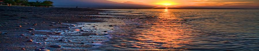 De vulkanische kusten van Amed